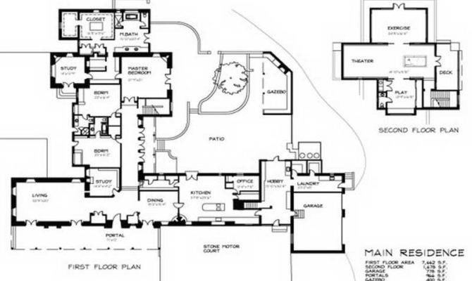 Guest House Floor Plans Main Residence