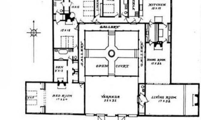 Hacienda Style House Plans Courtyard Mexican