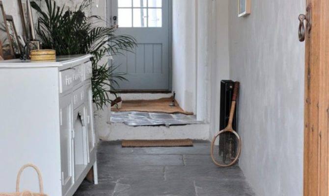 Hallway Flagstone Floor Modern Country Cottage