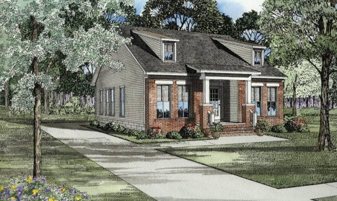 Hemistone Narrow Lot Ranch Home Plan House Plans More