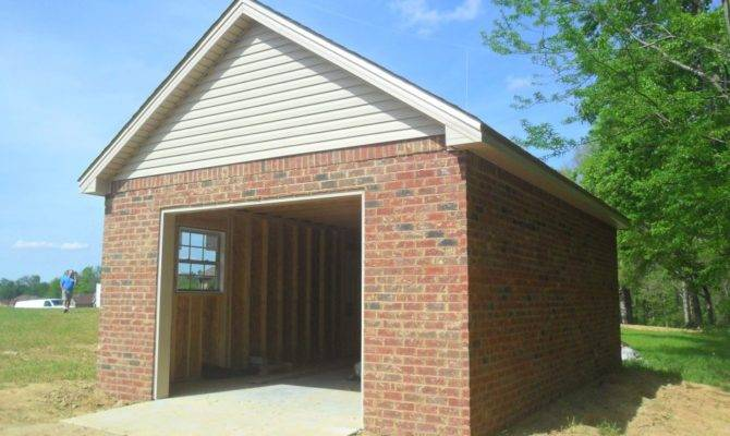 Here Small Detached Brick Garage