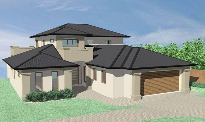 Hervey Bay Design Group Storey Hip Roof Home Plans Blueprints 28795