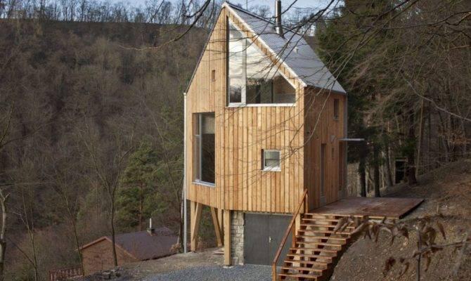 Hexagon Shaped Wooden House Architekti Small