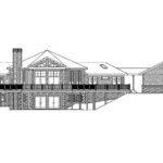Hexagonal House Plan Crestview Rear Elevation