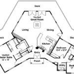 Hexagonal House Plan Vaulted Great Room