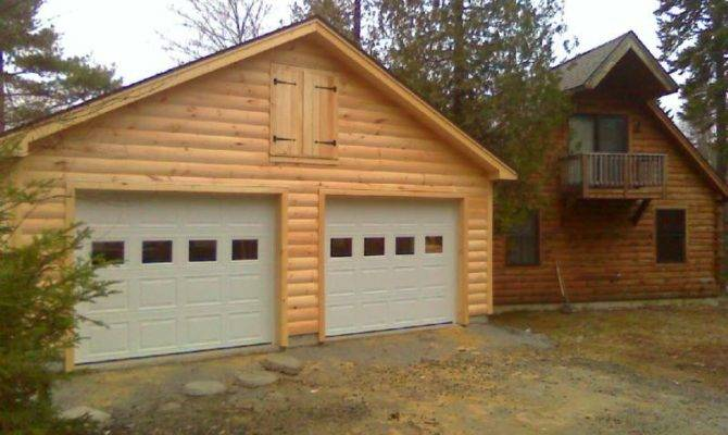 High Quality Log Garages Cabin Garage