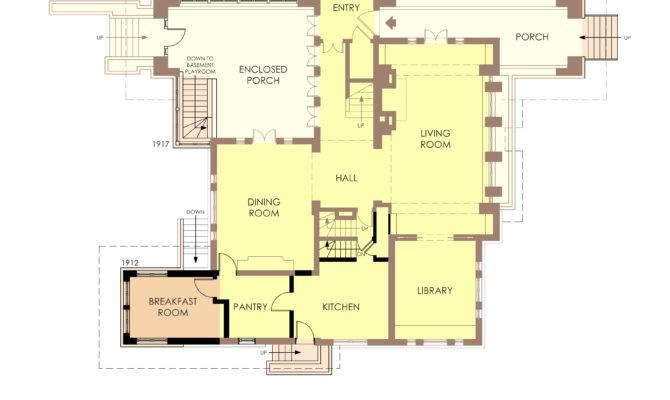 Hills Decaro House First Floor Plan Pre Fire