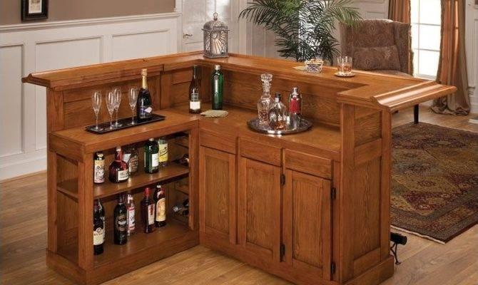 Hillsdale Classic Large Oak Wrap Around Home Bar Axoak