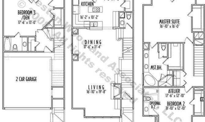 Hillside House Plans Story Narrow Lot