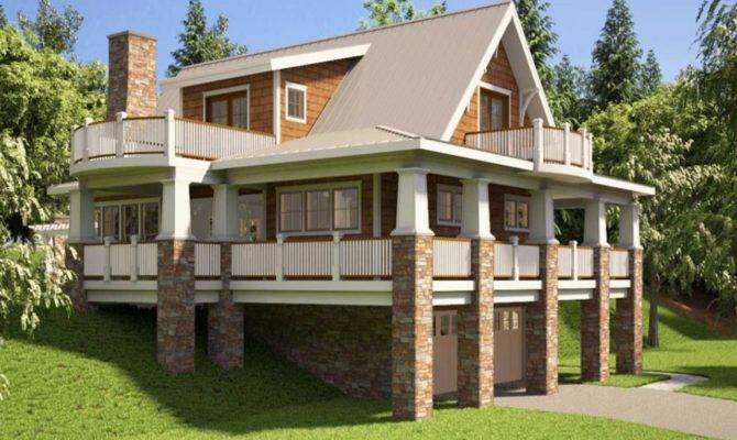 Hillside House Plans Walkout Basement