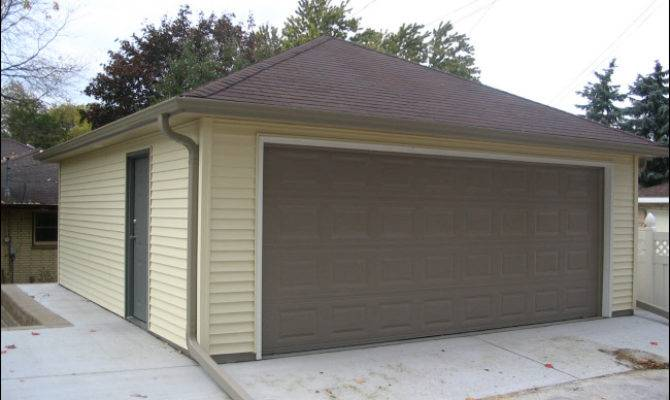 Hip Model Garage Higher Pitched Roof Custom Gutters