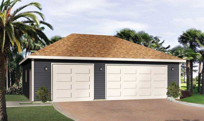 Hip Roof Car Drive Thru Garage Architectural