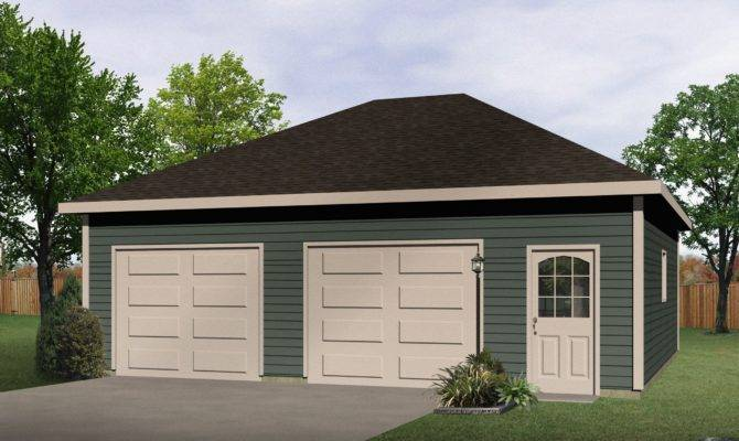 Hip Roof Drive Thru Garage Cad Available Pdf