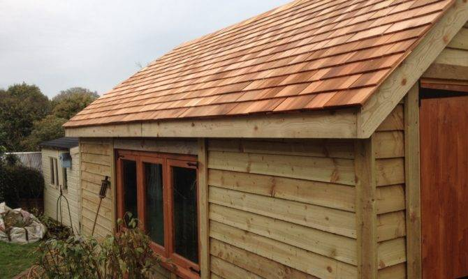 Hipped Garage Wooden Workshop Oakford Devon