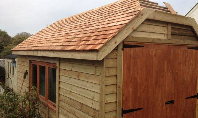 Hipped Roof Garage Wooden Workshop Oakford Devon