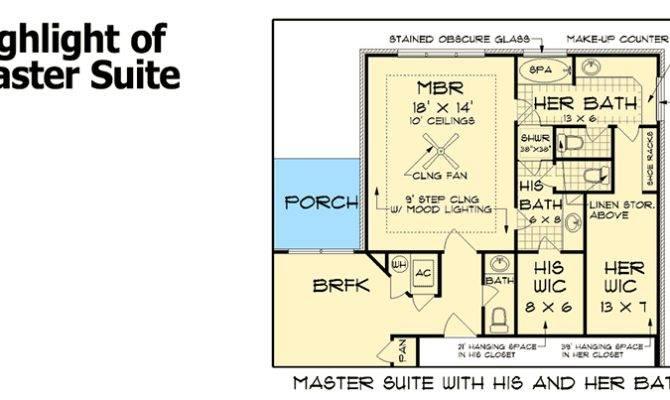 His Her Bathrooms Floor Master Suite