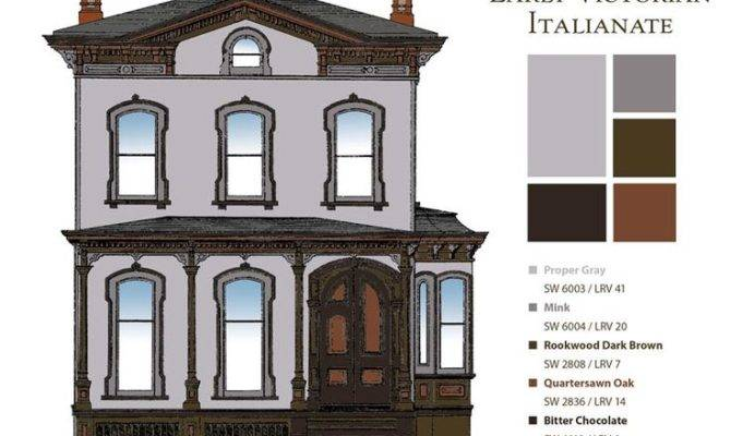 Historic Paint Colors Early Italianate Victorian Era Dream Pin