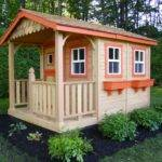 Home Backyard Play Playhouses Sunflower Cedar Playhouse