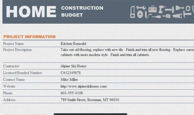 Home Construction Budget Template Threshold Inspiration Pinterest