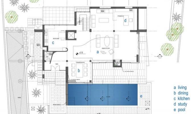 Home Design Contemporary Floor Layout Plan Outdoor Lights