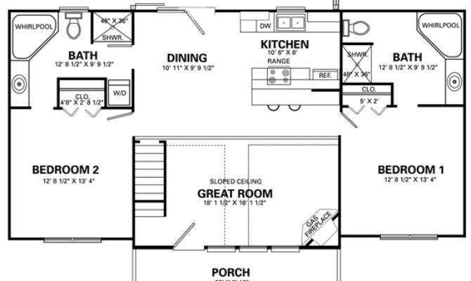 Home Design Living Room Four Bedroom House Plans