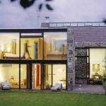 Home Design Modern Stone House Designs