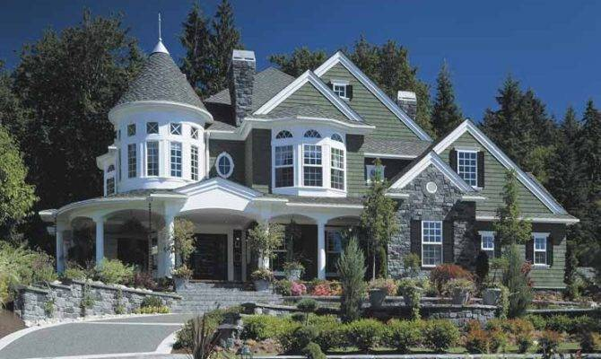 Home Designs Beautiful Garden Green Roof Luxury Victorian Homes