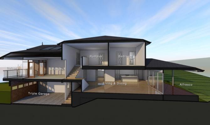 Home Designs Sloping Blocks Creative Design