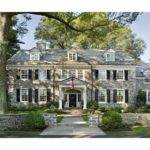Home Exterior Stone Colonial Manor House Love Pinterest