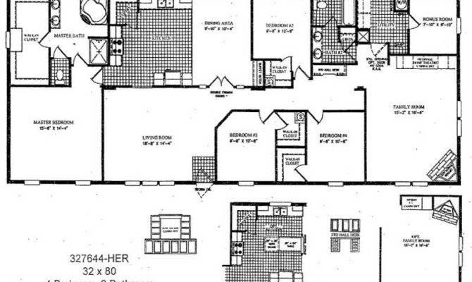 Home Floor Plans Double Wide Mobile Master Bedroom