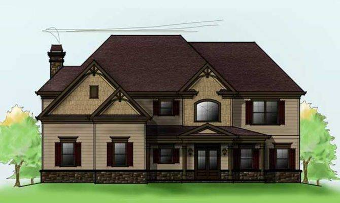 Home House Plans Two Story Bedroom Plan Car Garage