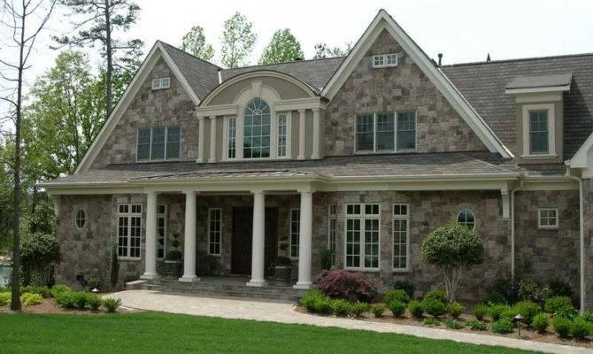 Home Outdoor Stone Veneer Houses
