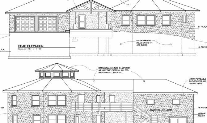 Home Plan Drawings Elevation Building Plans