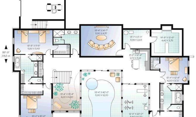 Home Plan Indoor Pool Homedesignpictures