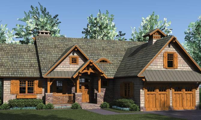 Home Plan Rustic Craftsman Open Lots Storage