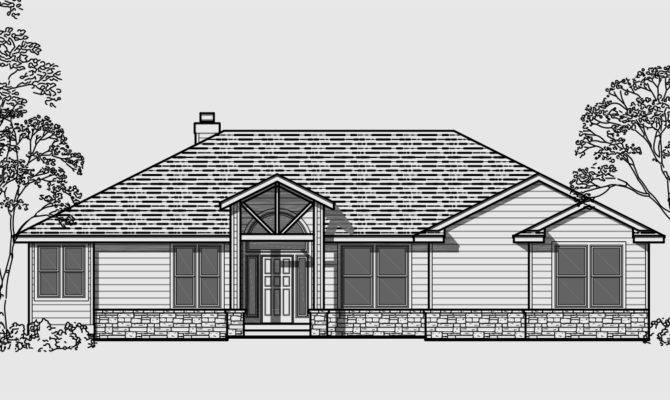 Home Plans Garage Side