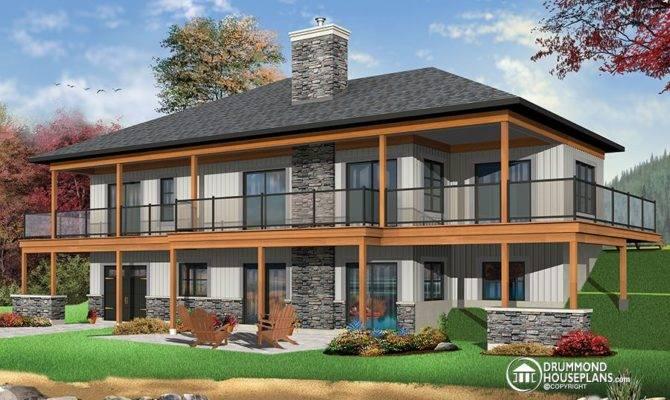 Home Plans House Designs Walkout Basement
