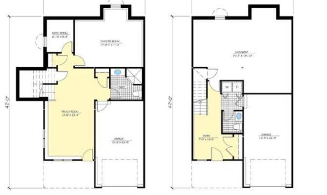 Home Plans Modular Floor Basement Garage