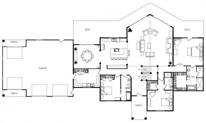 Home Plans Open Floor Plan Kitchen