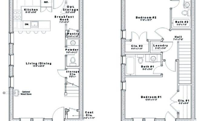 Home Plans Rowhouse