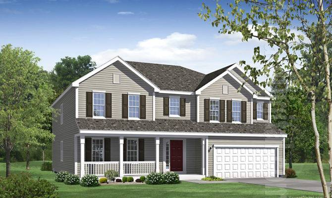 Home Rendering House Illustration Brookstone