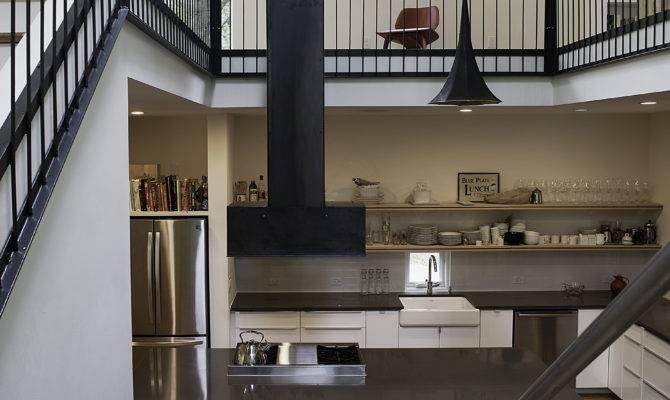Home Storey Kitchen Creates Drama Mezzanine Level