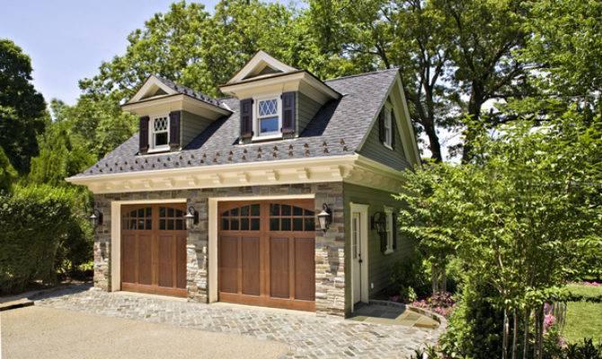 Homes Detached Garage Craftsman Style House Floor