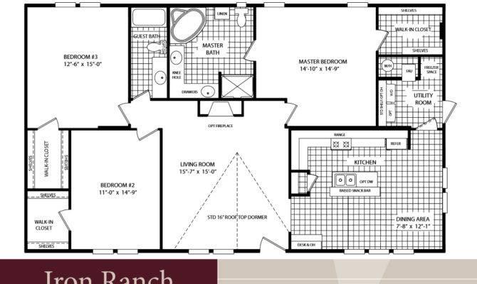 Homes Floor Plan Bedroom Bath Double Wide Tiny Houses