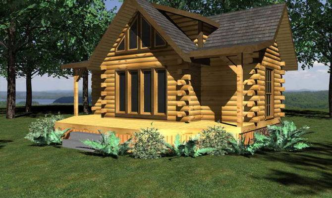 Homes Floor Plans Small Log Cabin Home