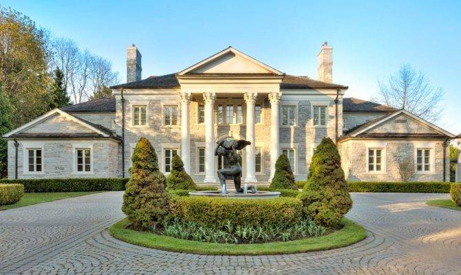 Homes Square Foot Neoclassical Stone Mansion Toronto Canada