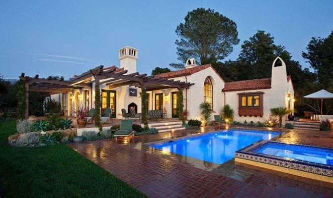 Hope Ranch Spanish Style Custom Home Exterior