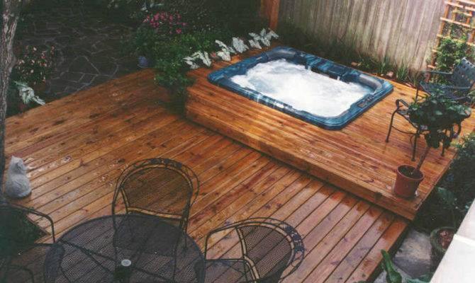Hot Tub Deck Decks Design Specialty Pools Tubs