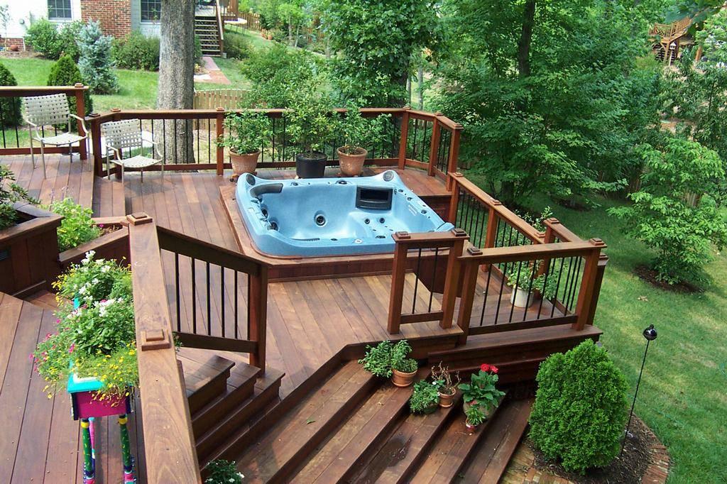 Hot Tubs Deck Tub Ideas Pergola Home