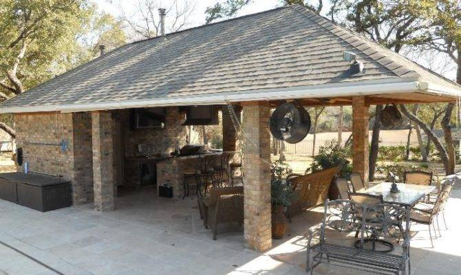 House Building Guest Outdoor Bbq Kitchens Pool Houses